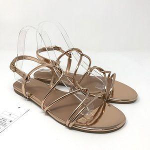 3dd6039ca57086 Merona Shoes - Merona Marcie Rose Gold Sandals Sz 7.5 NEW